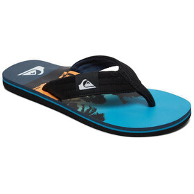 Quiksilver Molokai Layback Sandals Men, black/blue/blue